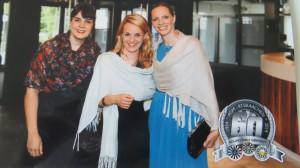 Unsere Ladies Frauke, Anna und Evelyn am Gala-Abend in Aachen