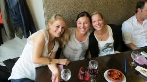 Anna, Audrey und Caro