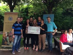 Spenden-Scheck über 2.000 € an unser NSP Projekt